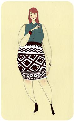 Knitty bluey curvy.  fashion interpreted by ericka lugo