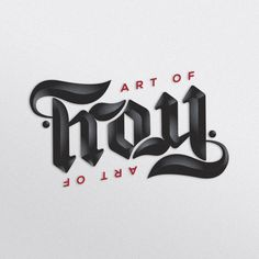 The Art of Froy, ambigram.
