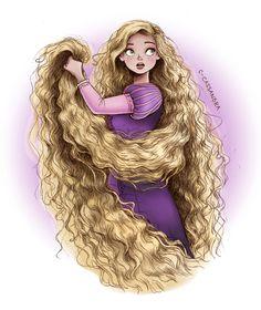 fără titlu ☂ : Rapunzel —- More Disney girls with curls Belle |...
