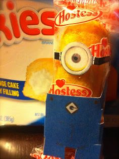 The Crafty Crazy:  Minion Dressed Twinkies (includes a step by step with links to templates).