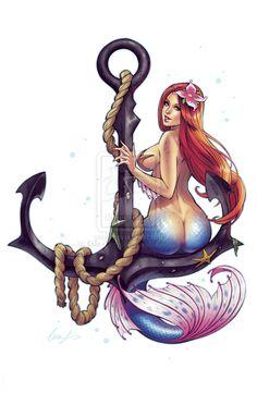 Mermaid Callirhoe by Elias-Chatzoudis.deviantart