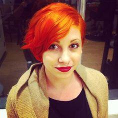 Red hot . Color by Dae Starkweather #edosalon #redhair #creativecolor #fieryred