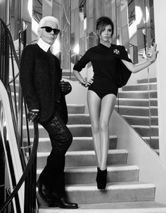 Karl Lagerfeld Victoria Beckham for Elle France