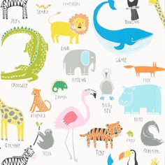 Products | Scion - Fashion-led, Stylish and Modern Fabrics and Wallpapers | Animal Magic (NSCK111287) | Guess Who? Wallpapers