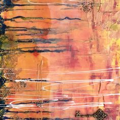 Art Abstrait, Les Oeuvres, Abstract Art, Acrylic Paintings, Orange Color