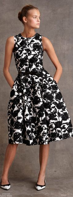 I would love to find a black and white floral piece like this -- dress, top, sweater or maybe a skirt.