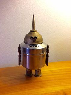 Robot robot sculpture metal sculpture robots by LovableLeftovers
