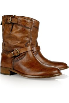 Belstaff Barkmaster leather boots. Don't they just look soooo comfortable?