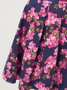 Rozšířená květovaná sukně, SUKNĚ, vícebarevn, MOHITO