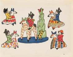 "Illustration by Sergei Chekhonin, from ""The Russian Folk Toy. Part 1. Clay Dolls from Vyatka"", 1929"