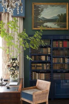 A Storybook Country House by Kirill Istomin is part of Future home Country - French tapestries, Chinese porcelain plates, and floral prints, make up the inside of a charming countryside home designed by Kirill Istomin Country Interior Design, Storybook Homes, English Decor, Morris, Home Libraries, Country Decor, Irish Decor, Country Homes, Country Kitchen