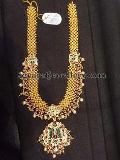 Jewellery Designs: Gold Kundan Haram 130 Grams
