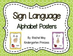 This pack includes a poster for every letter of the alphabet. My students love learning the alphabet in sign language. Everyday we practice the letters and as soon as they master them. We can start to spell out sight words and CVC words. They love it!**Please follow my store, all products are 50% off the first 24 hours.**