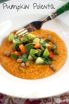 Pumpkin Polenta Recipe with Tomatillo-Avocado Salsa | Gluten-Free Goddess Recipes