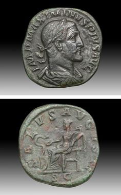 Roman Empire, ca. 236 to 237 CE. Minted in Rome, under the SC (approval of the Senate).