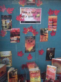 Autumn display at Jesmond Library
