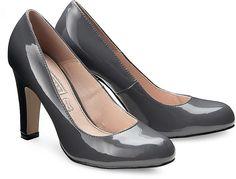 Plateau Pumps von Shopping Queen by Buffalo in grau dunkel für Damen. Gr. 36,38