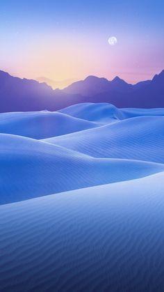 blue desert sunset iPhone 6 plus wallpaper - sky, stars, moon, mountain, wonderful
