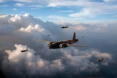 Vickers Wellingtons No 75 Squadron Canvas Print by Gary Eason