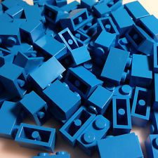 RARE COLOR - DARK AZURE blue BULK 300 1x2 NEW LEGO Bricks (ID 3004)