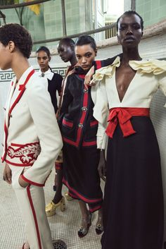 Jourdana Phillips, Grace Mahary, Ajak Deng, Lameka Fox & Nykhor Paul photographed by Silja Magg for Harper's Bazaar Arabia April 2017 Hair: Toni Malt Makeup: Seiji #inspiration #blog #blogger #tumblr #fashion #style #models #photography #vogue http://www.midnight-charm.com/