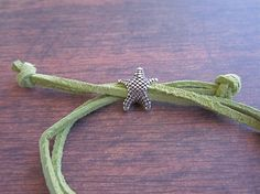 Adjustable Suede Nautical Bracelet Anchor with Seashell Charm by LoveandLaceBlvd