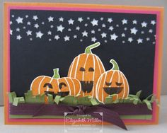 Stampin Up Fall Fest stamp set and Fun Fall pumpkin framelits. #stampinup #halloween #cardmaking #crafts