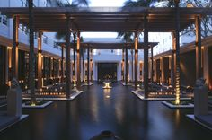 Hotels & Resort Ideas, Cool Candle Light On Entrance With Modern Roof And Black Floor: Setai Resort: Engaging Honeymoon Resort Design At Miami South Beach Resort Villa, Resort Spa, Hotel Miami, Roofing Options, South Beach Miami, Miami Pool, Miami Florida, South Florida, Roof Architecture