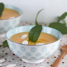 Crema de leche de coco y calabaza. Receta tailandesa con Thermomix