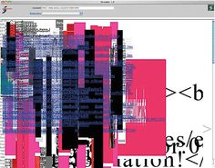 Shredder 1.0 by Mark Napier, 1998,   Mixed media, custom software, internet connection