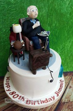 Jimmie - 80th Birthday Cake - Cake by Niamh Geraghty, Perfectionist Confectionist
