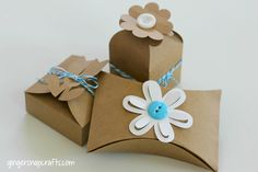 Flower Kraft Boxes {tutorial}
