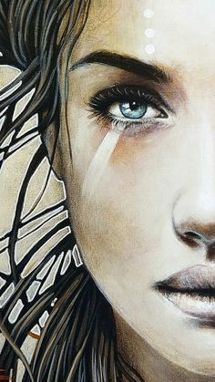 49 Ideas For Fantasy Art Women Face Drawings Female Face Drawing, Fantasy Kunst, Abstract Face Art, Photographie Portrait Inspiration, Fantasy Art Women, People Art, Watercolor Portraits, Pics Art, Portrait Art