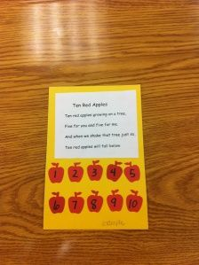 Apple poem, counting activity