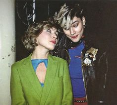 Debbie Harry with French punk icon Edwige Belmore at Studio 54, 1979
