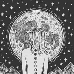 Znalezione obrazy dla zapytania moon phases tumblr