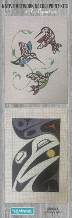 Custom Native American needlepoint canvases created by a user on our website.  #needlepoint  www.NeedlePaint.com