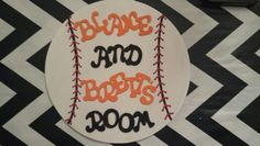 Baseball room plack/giants colors