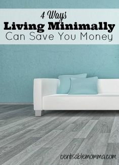 Check out 4 ways that living minimally can save you money on your home health and more. Check out 4 ways that living minimally can save you money on your home health and more. Save Your Money, Ways To Save Money, Money Tips, Money Saving Tips, How To Make Money, Saving Time, Frugal Living Tips, Frugal Tips, Money Penny