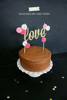 la decoración de mis mesas: Un precioso topper de tarta para San Valentin