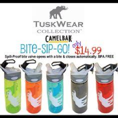 Custom Tuskwear Collection Water Bottles by Camelback
