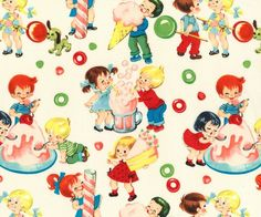 Candy Shop, Michael Miller Children's Retro Cotton Fabric
