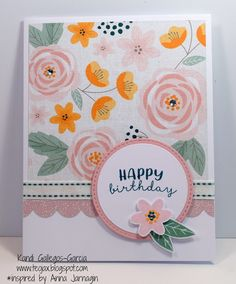 teojax: Stitched Circle Happy Birthday card, Gimme Some Sugar, Close to My Heart, CTMH, Bashful