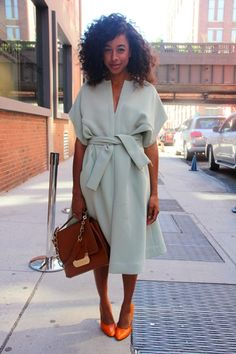 Love this dress, and the surprising color combo. real-simple-finds-stylish-clothing-accessories