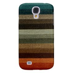 Vintage Warm Autumn Stripes Pattern, Earth Tones Samsung Galaxy S4 Cover