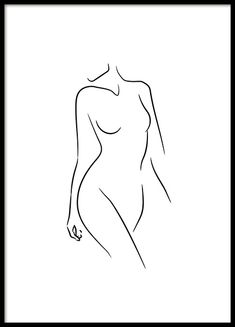 Sideway Glance Line Art Poster in the group Posters / Illustrations at Des . - Sideway Glance Line Art Poster in the group Posters / Illustrations chez Desenio AB - Black And White Posters, Black And White Pictures, Black White Art, Line Art, Art Sketches, Art Drawings, Tattoo Drawings, Illustrations, Illustration Art