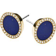Michael Kors Royal Blue Round Stud Earrings