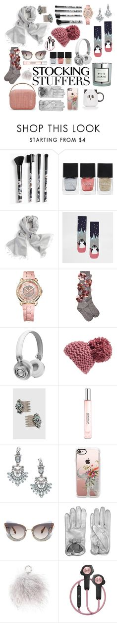 """2016 stocking stuffers"" by vaughnroyal ❤ liked on Polyvore featuring Torrid, Far + Wide Collective, River Island, Juicy Couture, Anouki, Master & Dynamic, BCBGeneration, Topshop, Viktor & Rolf and Casetify"