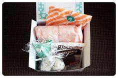 September 2014 Orange Glad - The products were carefully wrapped in tissue paper with a detailed description card. Price: USD $15.00/month -- #orangeglad #desserts #sweets #subscriptionbox #foodie #food #snacks #artisan