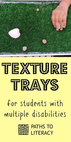 Create texture trays for students with visual impairments and multiple disabilities to encourage tactile exploration Visually Impaired Activities, Tactile Activities, Activities For Adults, Therapy Activities, Classroom Activities, Learning Activities, Learning Centers, Multiple Disabilities, Learning Disabilities